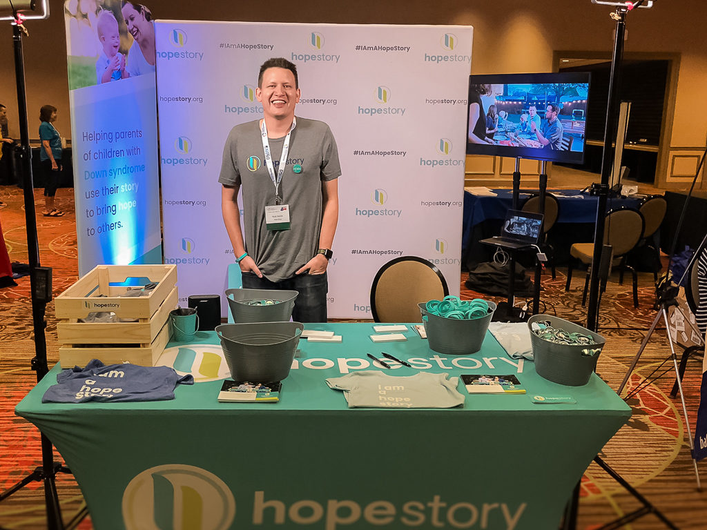 hope story conference booth at Down syndrome conference
