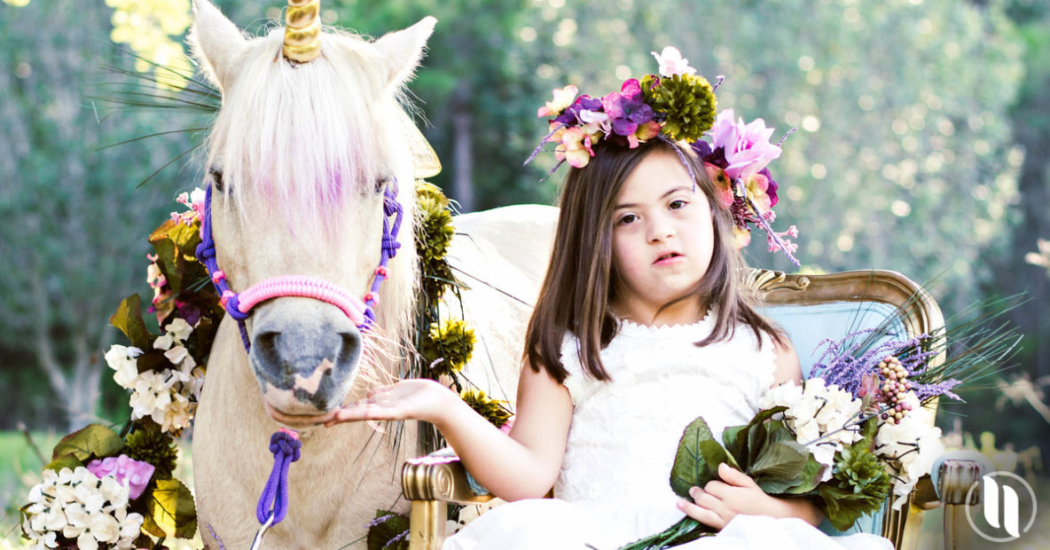 six year old down syndrome unicorn